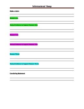 Informational essay-graphic organizer