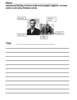 Informational writing Abe Lincoln