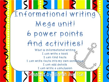 Informational writing mega unit ( mini lesson power points