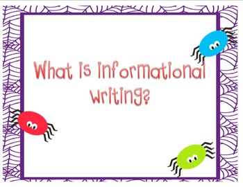 Informational writing (spider themed)
