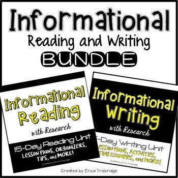 Informational/Nonfiction Reading and Writing BUNDLE