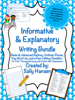 Informative/Explanatory CCSS Aligned Writing Bundle