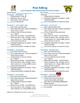 Informative/Explanatory Writing Peer Editing Checklists CC