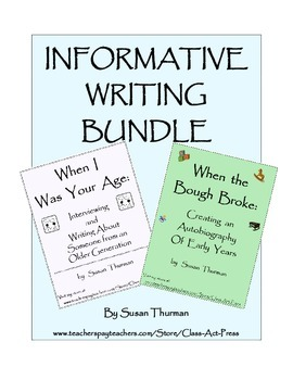Informative Writing (Bundle): Writing about Self and about