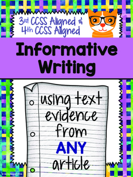 Informative Writing CCSS Aligned (Grades 3-4)