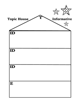 Informative Writing Graphic Organizer~ Topic House~POW TIDE Song