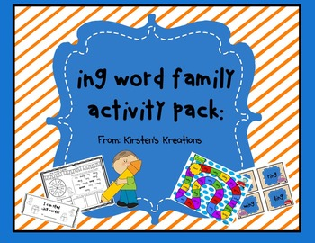 Ing Word Family Packet