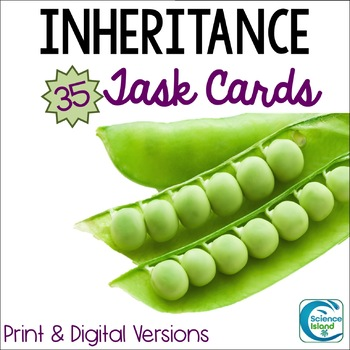 Inheritance Task Cards - Genetics Activity with PowerPoint Review