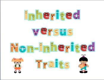 Inherited Versus Non-Inherited Traits Sort