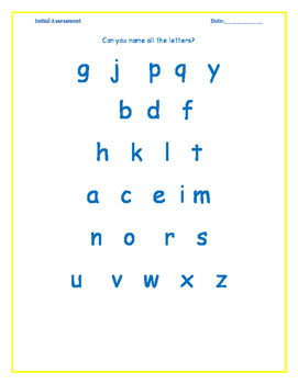 Let'z Read -Dyslexia Initial Assessment of phonic skills