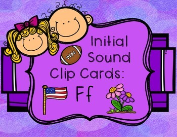 Initial/Beginning Sound Clip Cards: Ff
