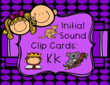 Initial/Beginning Sound Clip Cards: Kk