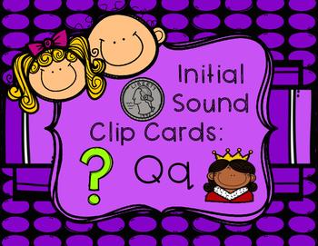 Initial/Beginning Sound Clip Cards: Qq