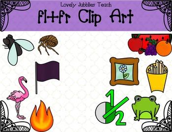 Initial Blends: Fl and Fr Clip Art