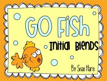 Initial Blends {Go Fish} Word Work [Reading] Station Center Game