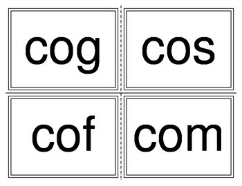 Initial C Sounds Flashcards (Remedial Series)