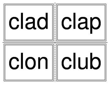 Initial CL Word Flashcards (Remedial Series)