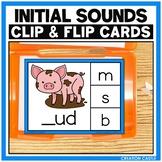 Initial CVC Sounds Clip Cards Center