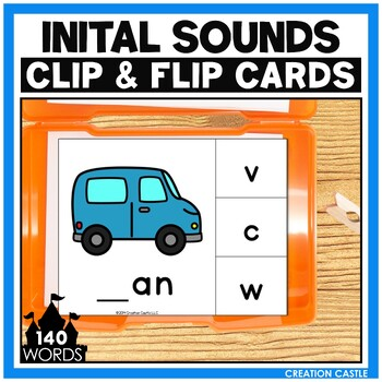 Initial CVC Sounds Clip Cards Center
