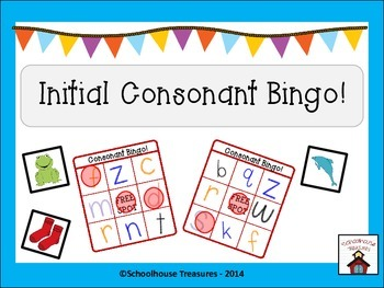 Initial Consonant Bingo - Freebie!