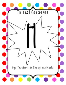Initial Consonant H Activity Packet