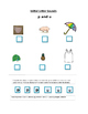 Phonics----Initial letter Worksheet p and u for the non-writer