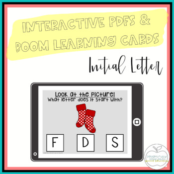 Initial Letter Interactive PDF Counting Activity for Speci