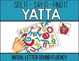 Initial Letter Sound Fluency YATTA Game - Available in Col
