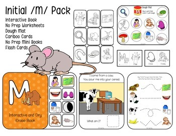 Initial /M/ Pack Articulation: Interactive Book, No Prep S