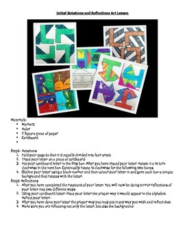 Initial Rotation and Reflection Math Art