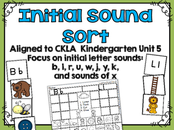 Initial Sound Match Activity CKLA Kindergarten Skills Unit 5