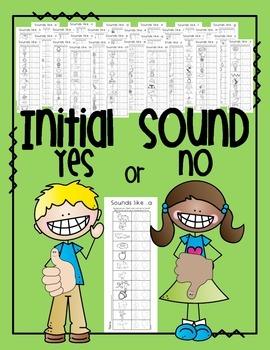 Initial Sound -- Yes or No
