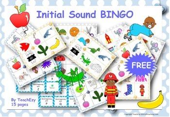 Initial Sounds Bingo Free Resource