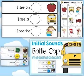 Initial Sounds Bottle Cap Sentences