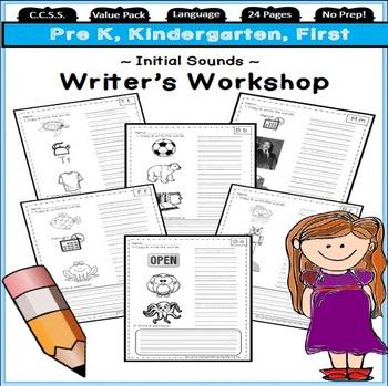 Initial sounds practice activities & kindergarten beginnin