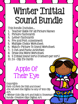 Initial Sound Bundle (Winter Themed!)