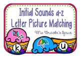 Initial Sounds a-z Letter Picture Matching