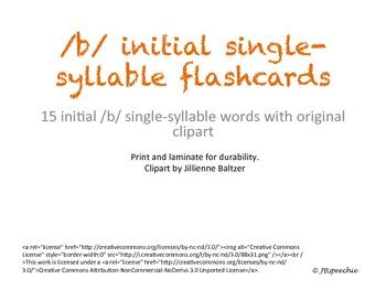 Initial /b/ single-syllable Flashcards