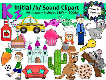 Initial /k/ sound clipart - 90 images! Personal and Commer