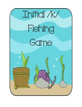 Speech Therapy: Initial /k/ words fishing game