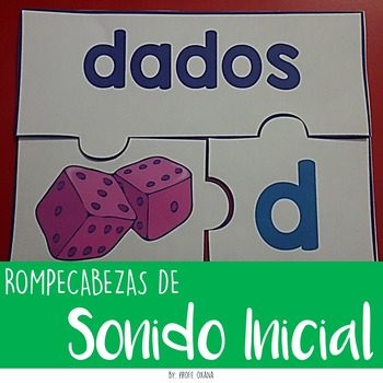 SPANISH Initial sound puzzles- Rompecabezas de sonidos iniciales