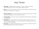Injuries to the body