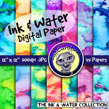 Ink & Water Digital Paper Backgrounds