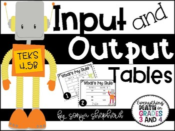 Input and Output Tables Task Cards - 4th Grade Edition