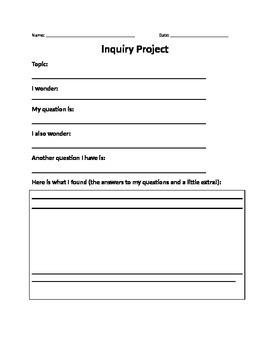 Inquiry Guide