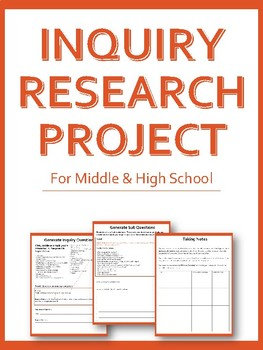 Inquiry Research Project Workbook - Project Based Learning