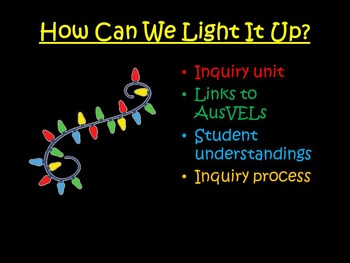 Inquiry Unit - How can we light it up?