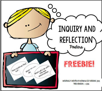 Inquiry and Reflection Thinking Skills - Posters