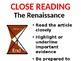 Renaissance Overview Lesson