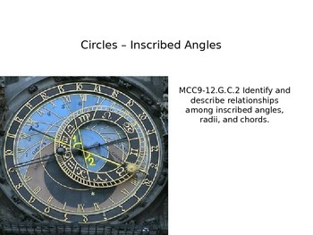 Circles - Inscribed Angle Relationships